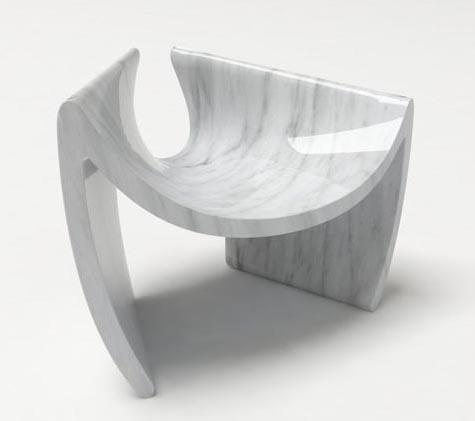 Chair-made-of-Carrara-Marble